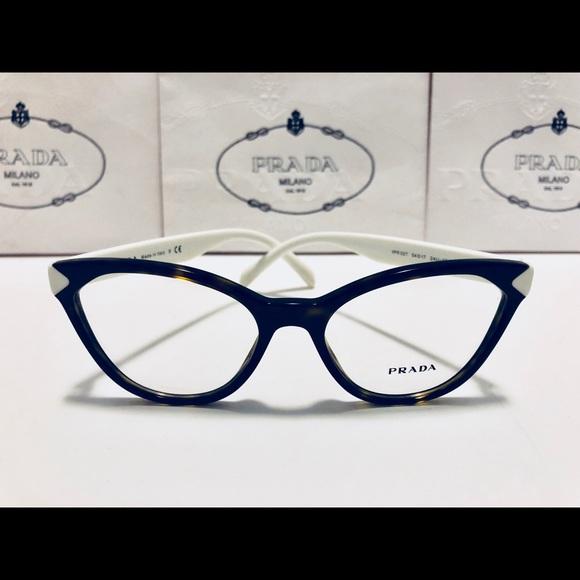 829b4225e6c Prada Eyeglasses Havana Brown on White New 54mm. M 5b871de7d8a2c7811e9d30f4